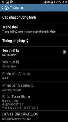 Tiếng Việt và Unlocked Samsung M819N alt