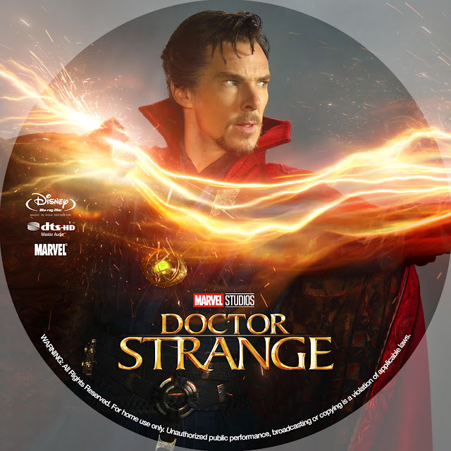 Doctor Strange Bluray Label