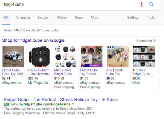 AdWords used in eBay Stores Bait-and-Switch Scam