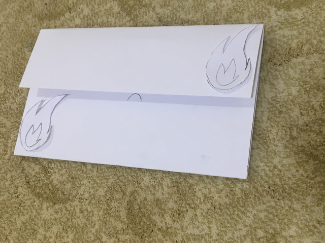 The flame envelope and card custom made for gift cards