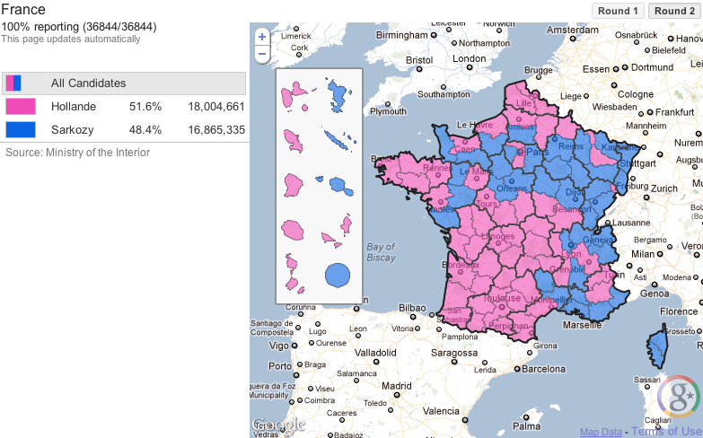 Politics & Elections Blog: Tracking the French Presidential ... on google maps louisiana political, democrat vs republican states map, google poll,