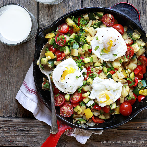 Summer Vegetable Skillet Hash
