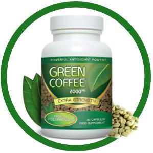 boite d'extrait de grains de café vert