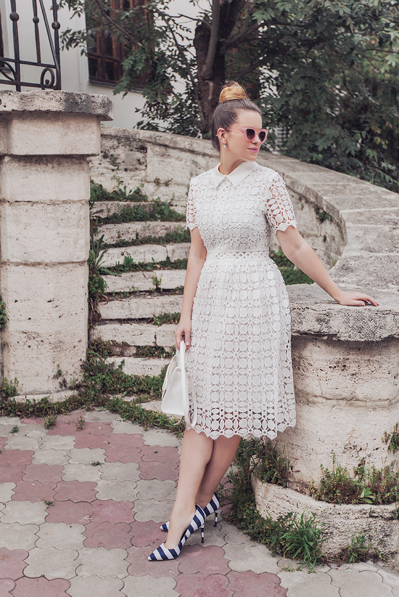 Chicwish Splendid Crochet White Dress