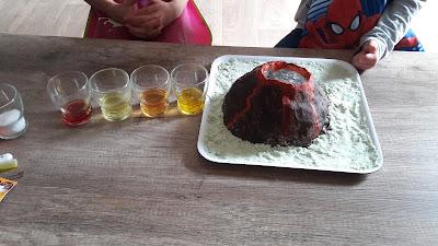 réaliser une éruption volcanique enfant maternelle primaire chez soi facile