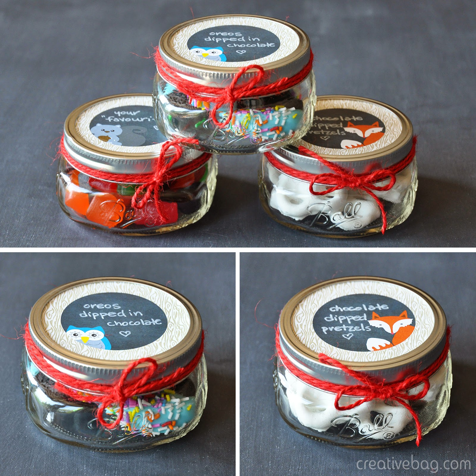 free printables and gift giving ideas using mason jars with Creative Bag
