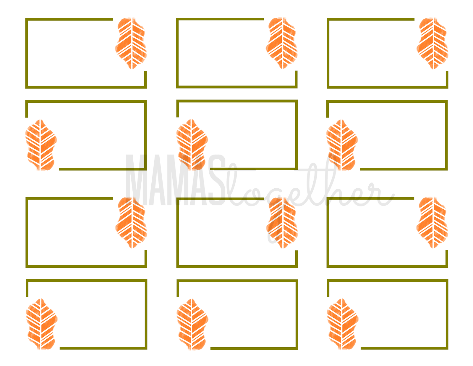 picture about Thanksgiving Place Cards Printable known as Mamas Alongside one another: Thanksgiving Stage Card Printables Do-it-yourself