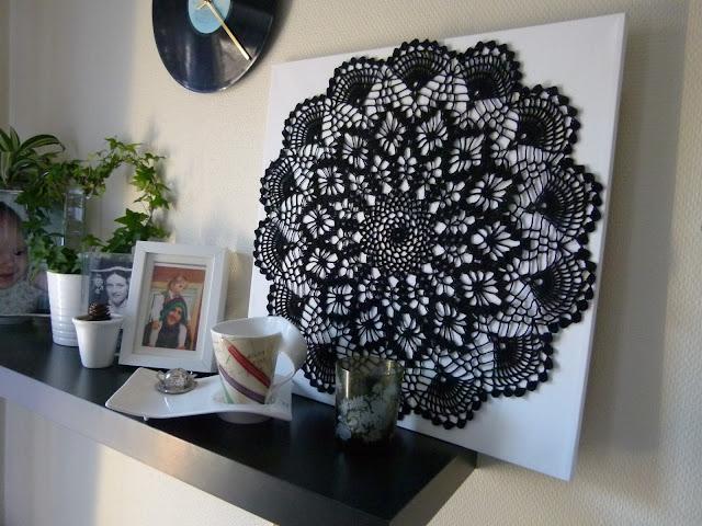 Strikkeavdelinga Heklekunst Crochet Wall Art