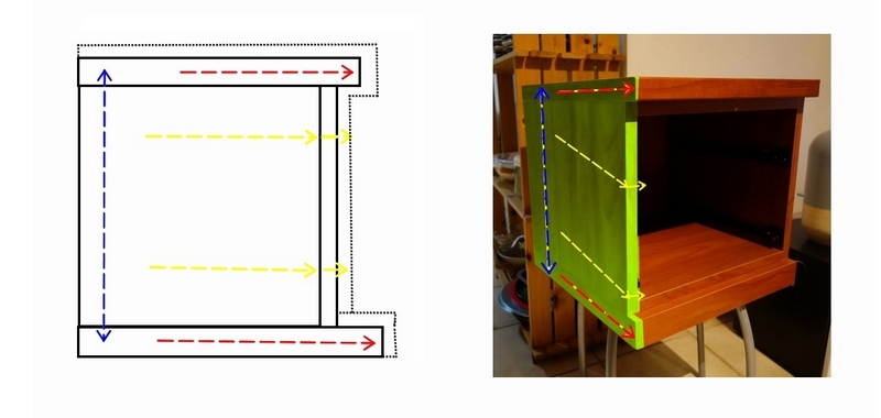 DIY : Tracer le plan - Relooker une table de nuit avec de l'adhésif / www.by-laura.fr