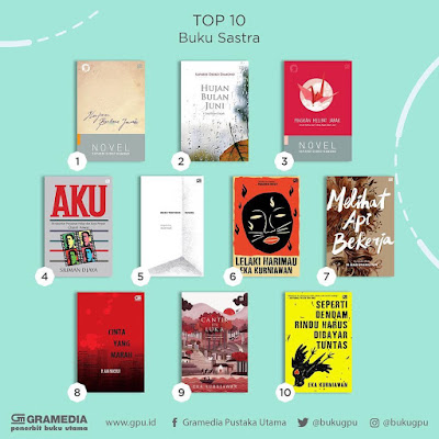 Top 10 Best Seller Buku Sastra Gramedia