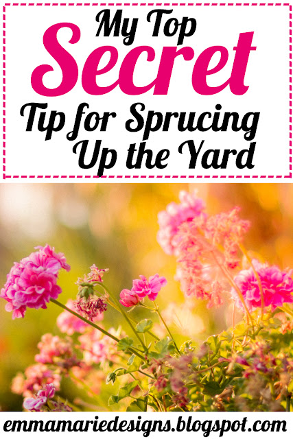 My Top Secret Tip for Sprucing Up the Yard - doing yard work in the spring