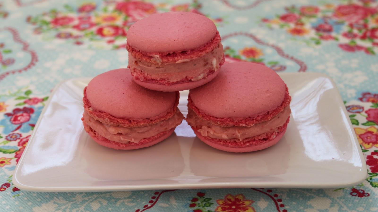 Cupcakesfluffan  Macarons med halloncheesecake 1cc051f2e8ed6