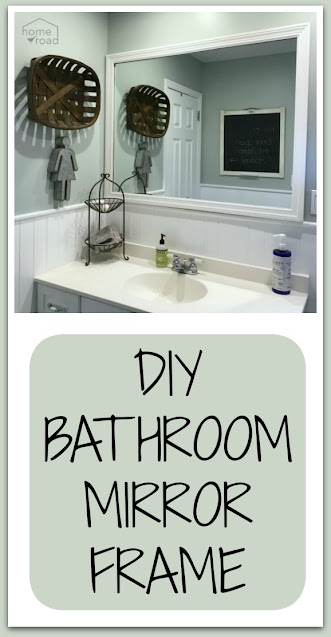 DIY Bathroom mirror pin