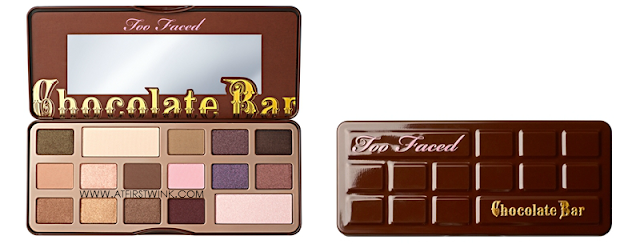 Too Faced chocolate bar eyeshadow collection palette open & closed