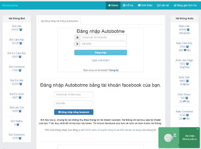 Code Website Auto Bot Me