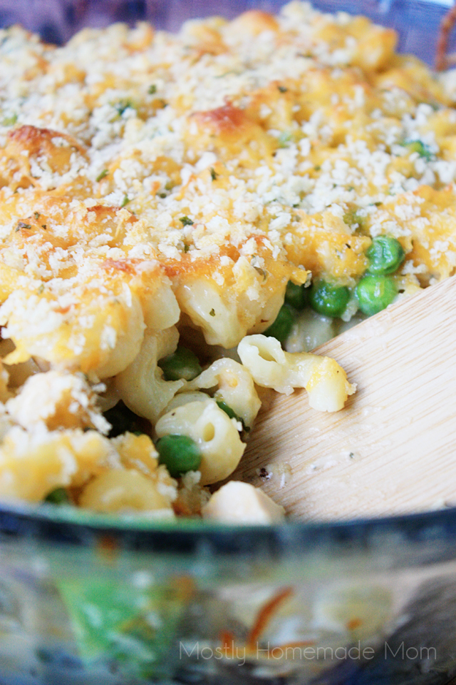 Chicken Macaroni & Cheese Casserole