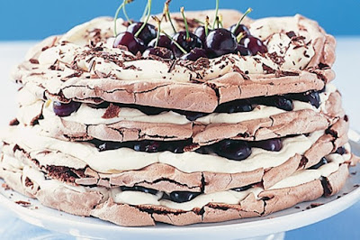 Black forest meringue cake desserts recipes