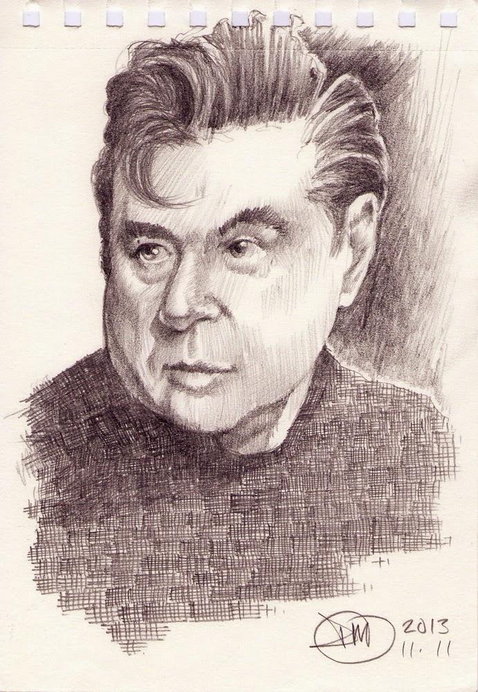 Sketch of Francis Bacon by David Meldrum