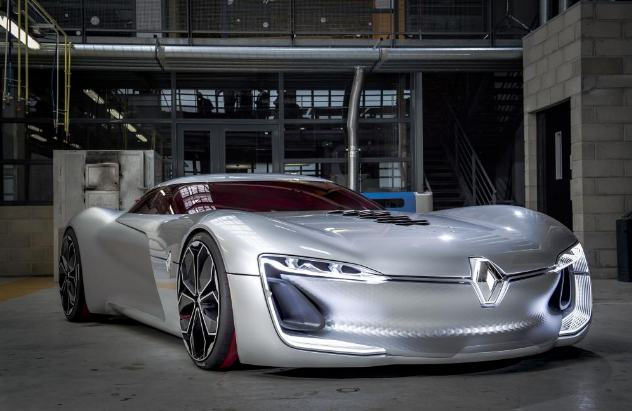 Amazing Renault Trezor principle automobile hits a Paris crowning achievement