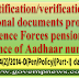 Identification/verification of additional documents produced by Defence Forces pensioners in absence of Aadhaar number: DESW Order