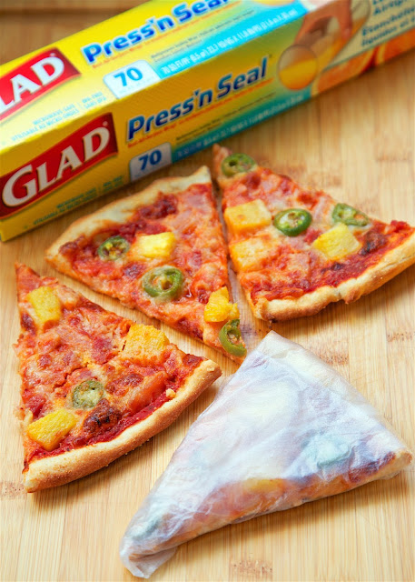 Spicy Hawaiian Pizza - quick homemade pizza that tastes better than any pizza restaurant! Use leftover holiday ham! Everyone loved this flavor combination! Gets a kick from the jalapeños. Wrap leftovers with Glad Press'n Seal.