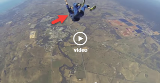 Rookie Skydiver Saved at the Last Second From Certain Death by his Jumpmaster - Video HD