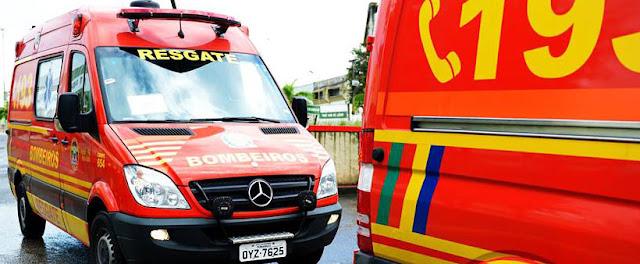 Homem é assassinado dentro de veículo dos bombeiros