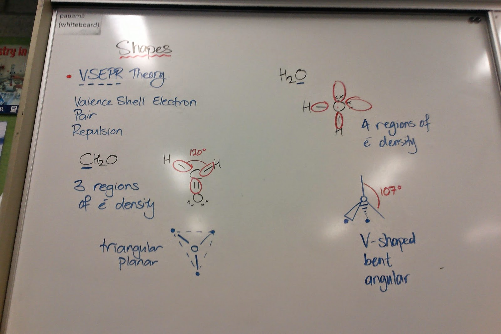 St Andrew's College Level 2 Chemistry: VSEPR Theory and Shapes