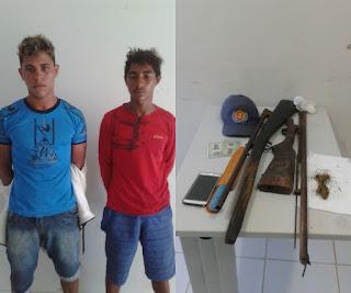 REGIÃO: Em Tutoia dupla é presa com armas de fogo e drogas