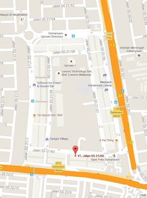 Location map Becon Stationers & Printers