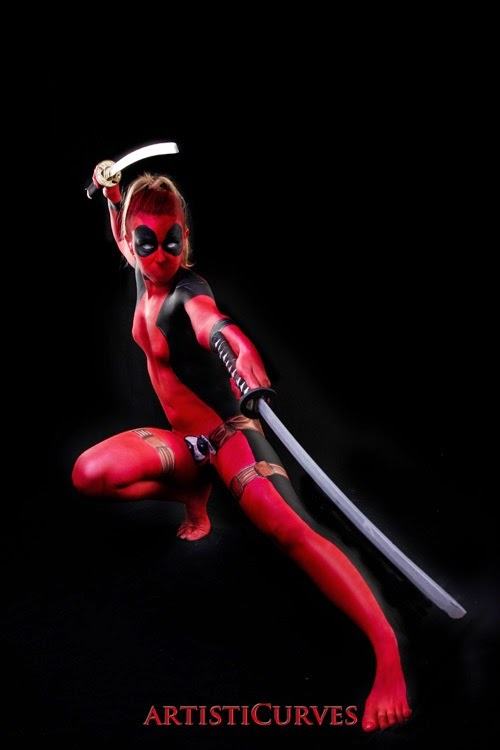 Girl Wallpaper For Iphone 4 Galaxy Fantasy Cosplay Maquillaje Corporal De Deadpool
