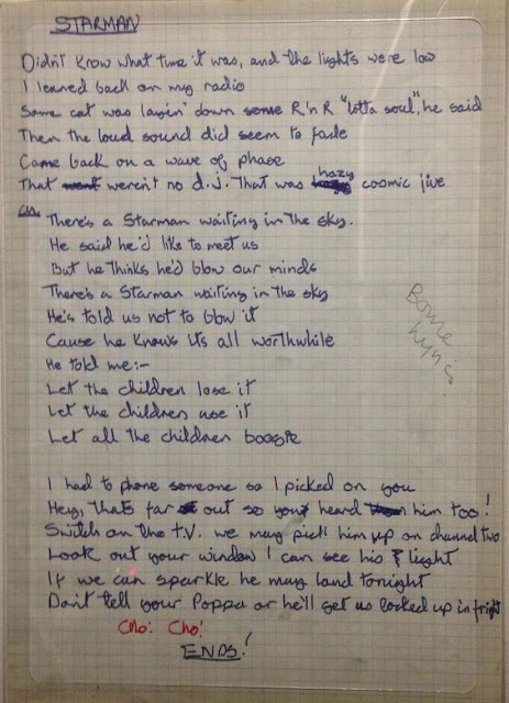 Manuscrito de Starman, David Bowie