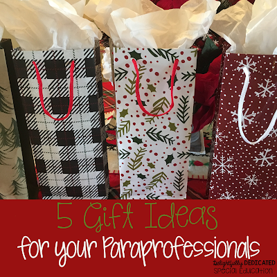 5 Christmas Gift Ideas fof your Paraprofessionals