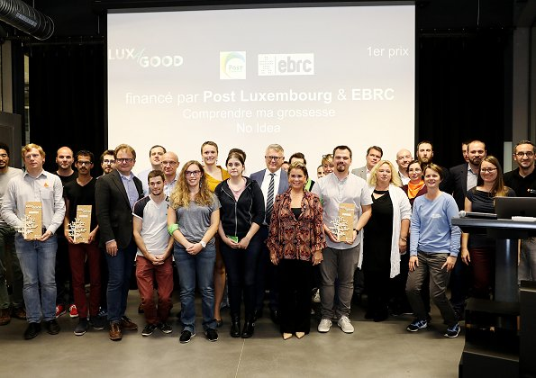 Grand Duchess Maria Teresa attended the first edition of Lux4Good software contest held at Technoport, Esch-sur-Alzette