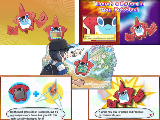 Rotom Pokédex Pokémon Sun Moon montage collage Alola region