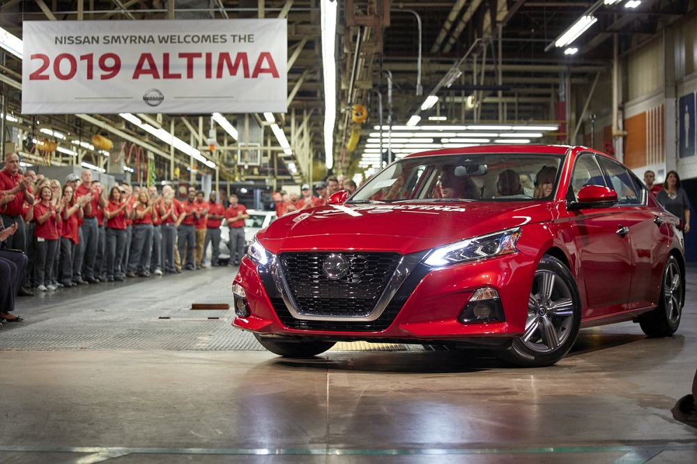 Nissan invests $170 million in U.S. assembly plants to build 2019 Altima