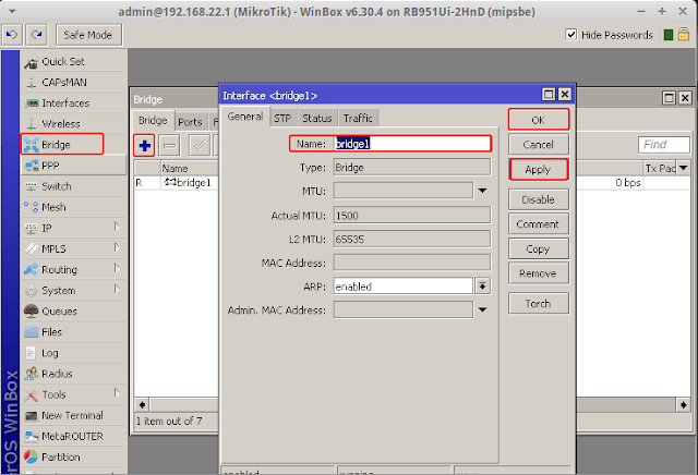 Cara Setting Bridge Interface di Mikrotik
