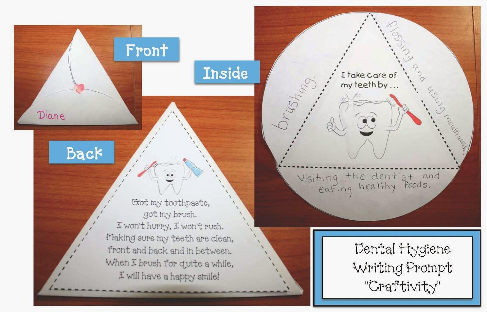 Classroom Freebies Dental Hygiene Secret Traingel Writing Prompt Craft