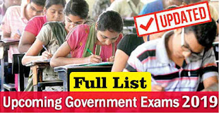 Upcoming Government Competitive Exams 2019