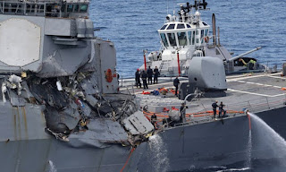 US Destroyer Fitzgerald badly damaged