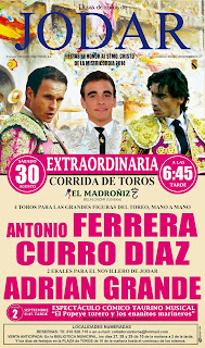 Jódar - Feria de Septiembre 2014 - Cartel Taurino