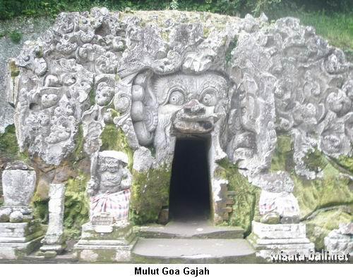 Gambar Tiket Masuk Goa Gajah Bali Elephant Cave Entrance