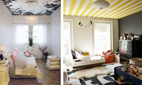 Basta bianco per il soffitto arredamento facile for Carta da parati per soffitto