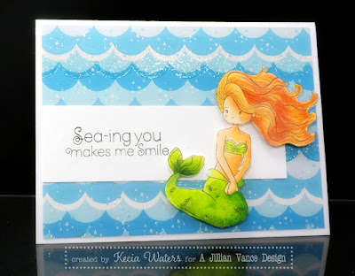 A Jillian Vance Design, Kecia Waters, Copic markers, Whimsie Doodles, mermaid