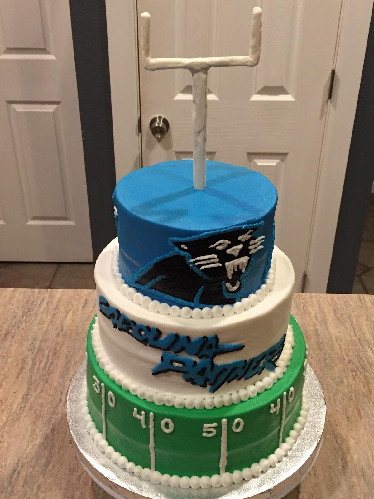 A Counselor S Confections Carolina Panthers Cake