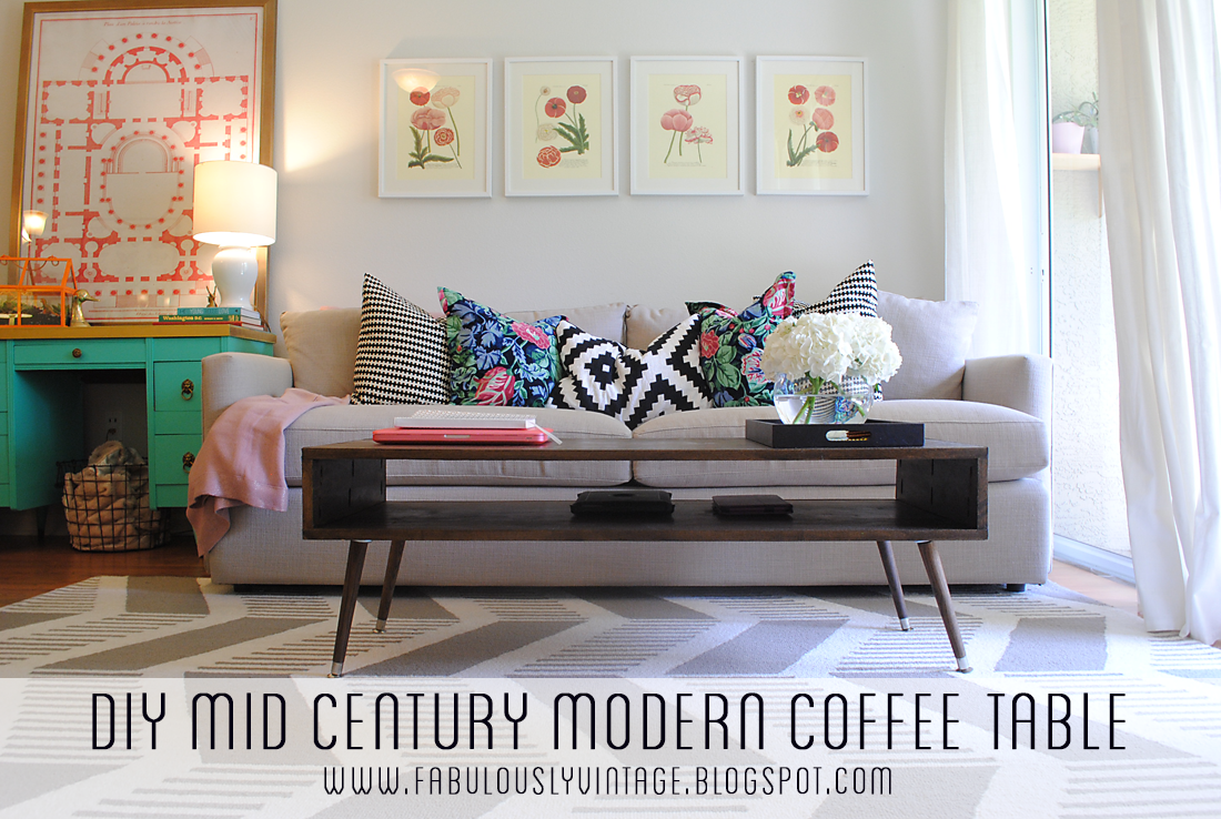 Fabulously Vintage: DIY Mid Century Modern Coffee Table