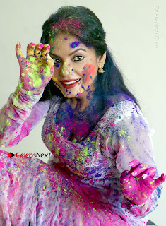 Bollywood Actress and Producer Neetu Chandra Special Po Shoot Gallery in a Dry Holi Celetion  0006.JPG