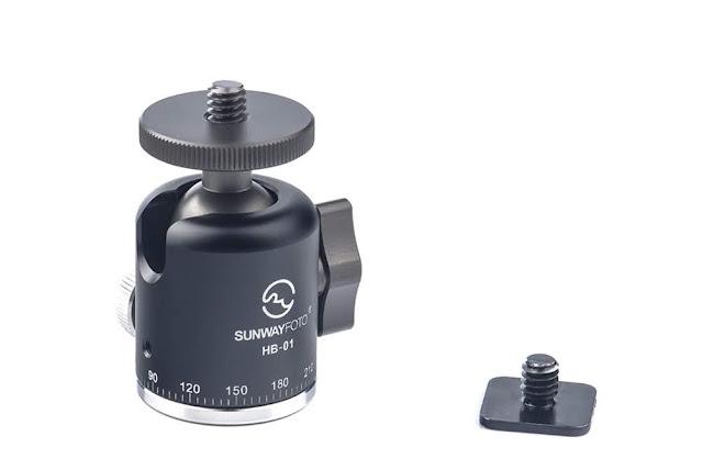 Sunwayfoto HB-01 Mini Ball Head w/ Hot Shoe