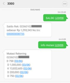 daftar sms Banking bri biaya & cara transfer