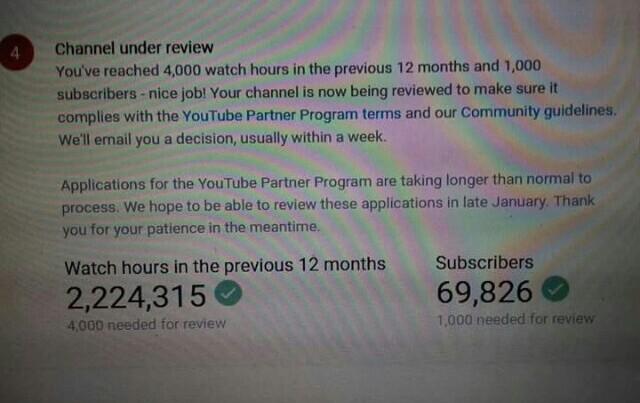 4000 Jam Waktu Tonton 1000 Subscribers